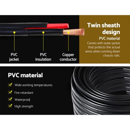 Twin Core Wire Electrical Automotive Cable 2 Sheath 450V 4MM 100M