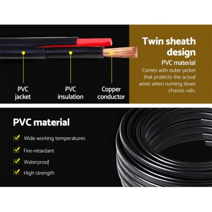 Twin Core Wire Electrical Automotive Cable 2 Sheath 450V 6MM 10M