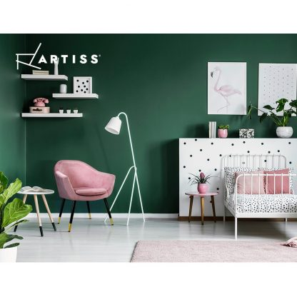 Artiss Armchair Lounge Chair Accent Armchairs Retro Single Sofa Velvet Pink Seat