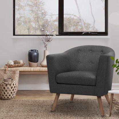 Artiss ADORA Armchair Tub Chair Single Accent Armchairs Sofa Lounge Fabric Grey