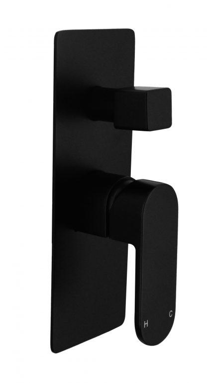 Shower Bath Mixer Diverter Tap WATERMARK Approved Electroplated Matte Black