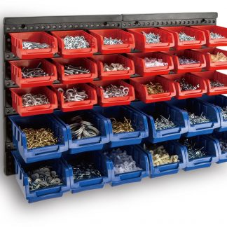 30 Bin Wall Mounted Rack Storage Organiser