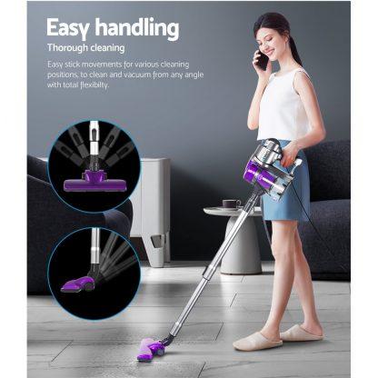 Devanti Corded Handheld Bagless Vacuum Cleaner - Purple and Silver