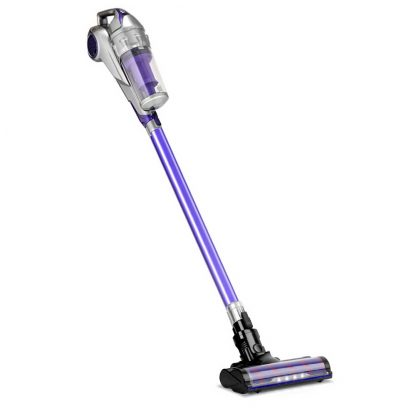 Devanti Cordless Handstick Vacuum Cleaner - Grey and Purple