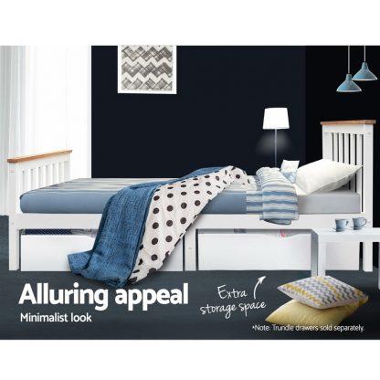 Artiss Single Wooden Bed Frame Bedroom Furniture Kids