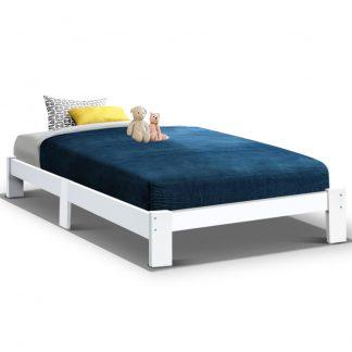 Artiss Bed Frame Single Wooden Bed Base Frame Size JADE Timber Mattress Platform