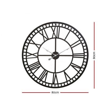 Wall Clock Large Modern Vintage Retro Metal Clocks Handmade Home Office Decor