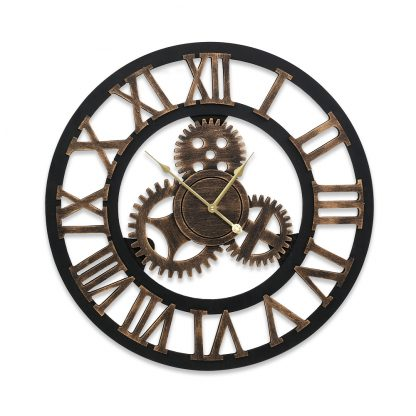 Wall Clock Modern Large 3D Vintage Luxury Clock Enduring Home Office Decor