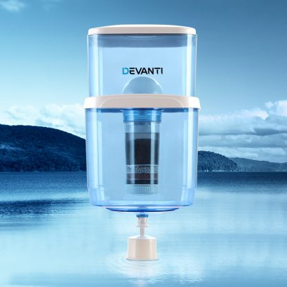 Devanti 22L Water Cooler Dispenser Purifier Filter Bottle Container 6 Stage Filtration