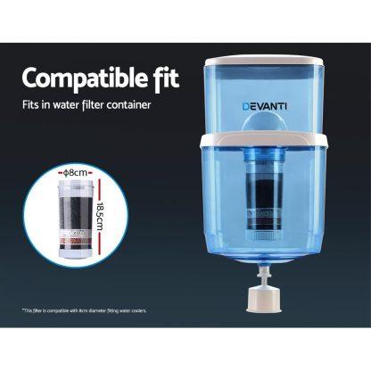 6-Stage Water Cooler Dispenser Filter Purifier System Ceramic Carbon Mineral Cartridge