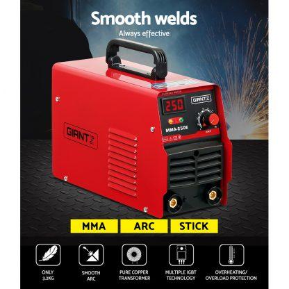 Giantz 250 Amp Inverter Welder DC MMA ARC IGBT Welding Machine Stick Portable