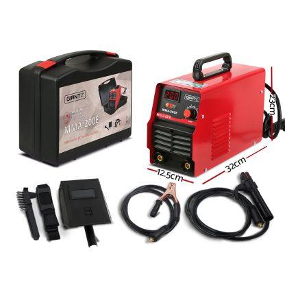 Giantz 200 Amp Inverter Welder MMA ARC DC IGBT Welding Machine Stick Portable