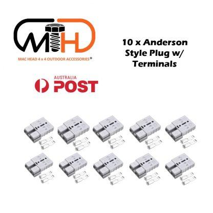 10x Anderson Style Plug connector 50AMP Caravan Trailer Solar 6AWG GREY