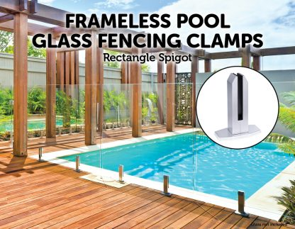 Frameless Pool Fencing Clamp