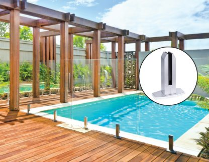 Frameless Pool Fencing Clamps - 4 Piece