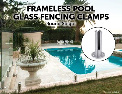 Frameless Pool Fencing Clamps - 12 Piece