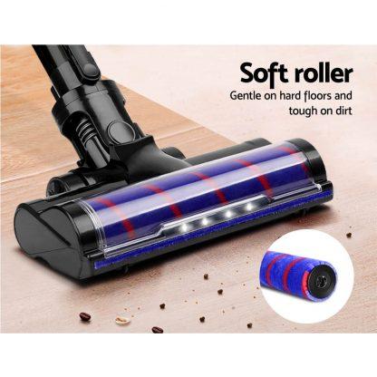 Devanti Cordless 150W Handstick Vacuum Cleaner - Grey and Blue