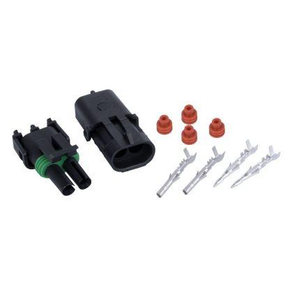 4x Kits 1.5MM 2way Waterproof Auto Electrical Plug Connector Kits Marine Sealed