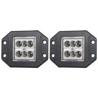 Pair 30W LED Work Light Bar CREE Flood Flush Mount 12V 24V Truck Reverse 5 inch