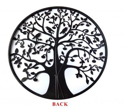 Black Tree of Life Wall Art Hanging Metal Iron Sculpture Garden 60cm