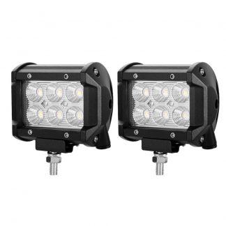 Pair 4inch 30W CREE LED Light Bar Flood Beam Offroad Work Lamp Save On 35W/45W