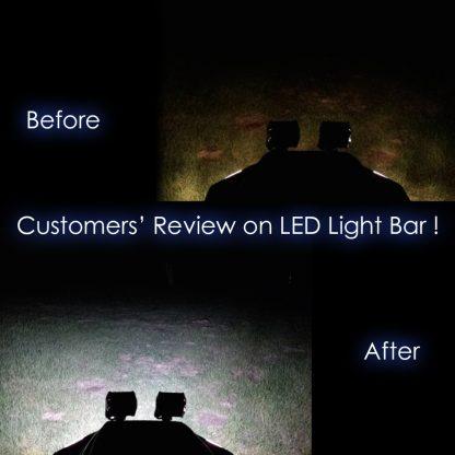 8X 4inch CREE LED Work Light Bar Flood Beam Offroad Lamp Save On 35W/45W Reverse