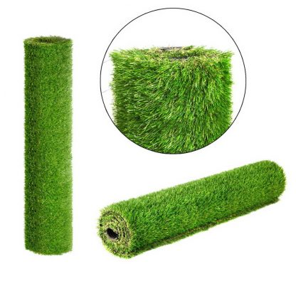 Primeturf Synthetic 30mm 0.95mx5m 4.75sqm Artificial Grass Fake Turf 4-coloured Plants Plastic Lawn