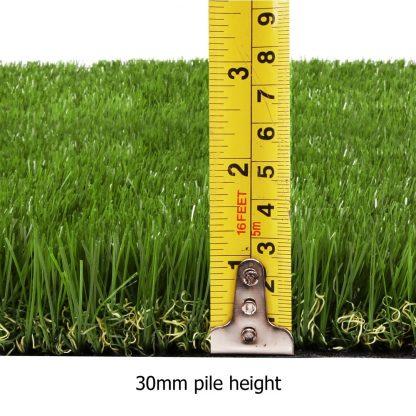 Primeturf Synthetic 30mm 0.95mx10m 9.5sqm Artificial Grass Fake Lawn Turf Plastic Plant White Bottom