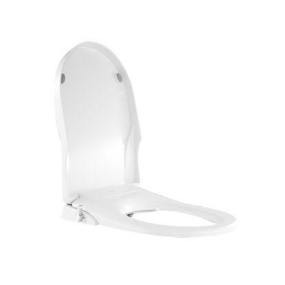 Toilet Bidet Seat Non Electric Hygiene Dual Nozzles Spray Wash Bathroom D shape