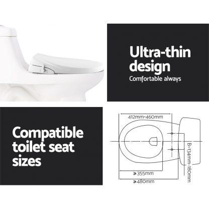 Toilet Bidet Seat Non Electric Hygiene Dual Nozzles Spray Wash Bathroom O shape