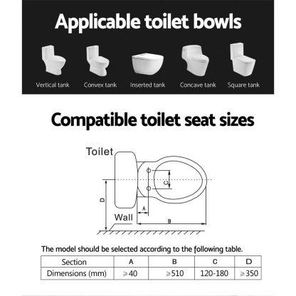 Smart Electric Bidet Toilet Seat Cover Seats Paper Saving Auto Wash Electronic