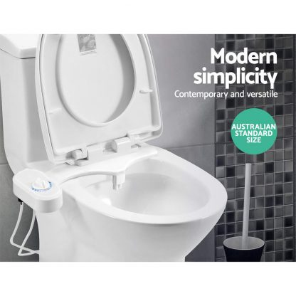 Bidet Toilet Seat Spray Sprayer Non Electric Dual Nozzles Wash Attachment