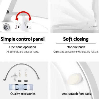 Non Electric Bidet Toilet Seat Bathroom - White