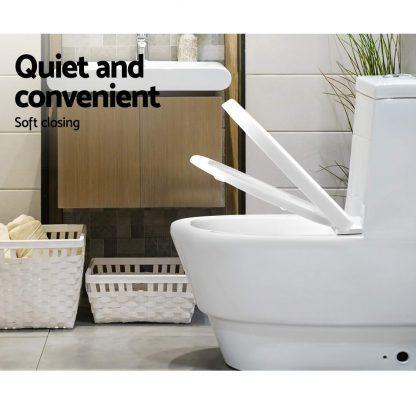 Cefito Soft-close Toilet Seat Cover U Shape Universal Fitting Bathroom Accessory