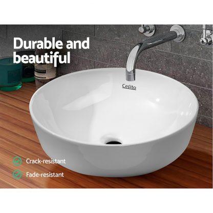 Cefito Ceramic Bathroom Basin Sink Vanity Above Counter Basins Hand Wash White