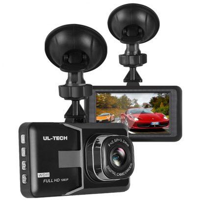 UL Tech 3 Inch Screen Dash Cam - Black