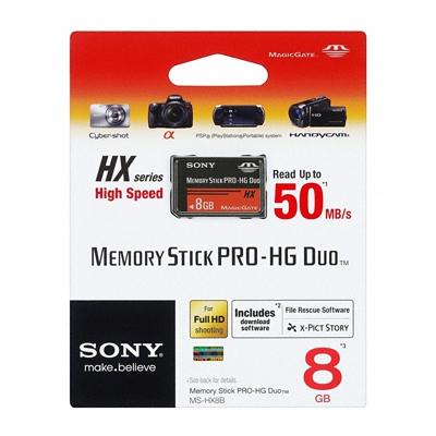 Sony Memory Stick Pro-HG Duo HX Rev.B 8GB 50M/s