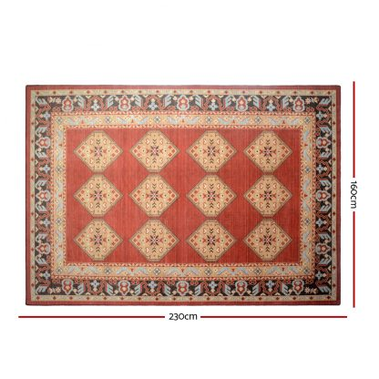 Artiss Floor Rugs Carpet 160 x 230 Living Room Mat Rugs Bedroom Large Soft Red