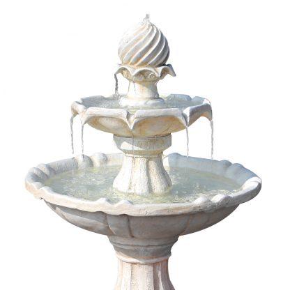 Gardeon 3 Tier Solar Powered Water Fountain - Ivory