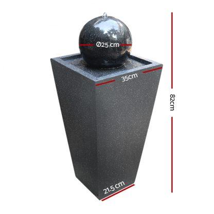 Gardeon Solar Powered Water Fountain - Black