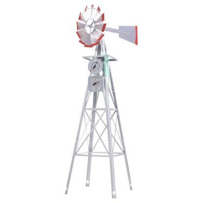 Garden Windmill 8FT 245cm Metal Ornaments Outdoor Decor Ornamental Wind Will