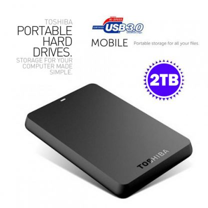 Toshiba 2TB Canvio 2.5 Inch USB 3.0 External Mobile HDD