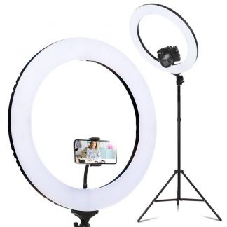 """19"""" LED Ring Light 6500K 5800LM Dimmable Diva With Stand Make Up Studio Video"""