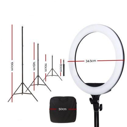 "Embellir 14"" LED Ring Light 5600K 3000LM Dimmable Stand MakeUp Studio Video"
