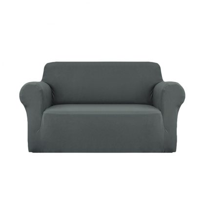 Artiss Sofa Cover Elastic Stretchable Couch Covers Grey 2 Seater
