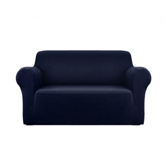 Artiss Sofa Cover Elastic Stretchable Couch Covers Navy 2 Seater