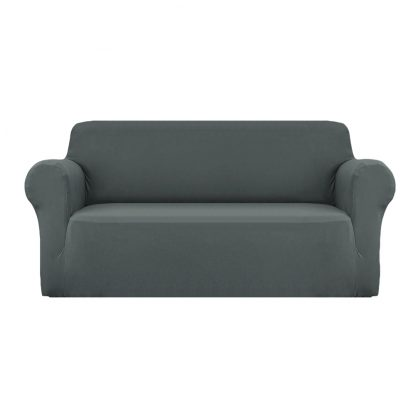 Artiss Sofa Cover Elastic Stretchable Couch Covers Grey 3 Seater