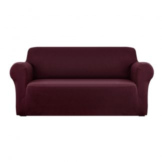 Artiss Sofa Cover Elastic Stretchable Couch Covers Burgundy 3 Seater