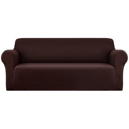 Artiss Sofa Cover Elastic Stretchable Couch Covers Coffee 4 Seater