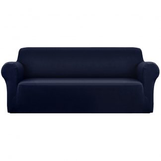 Artiss Sofa Cover Elastic Stretchable Couch Covers Navy 4 Seater
